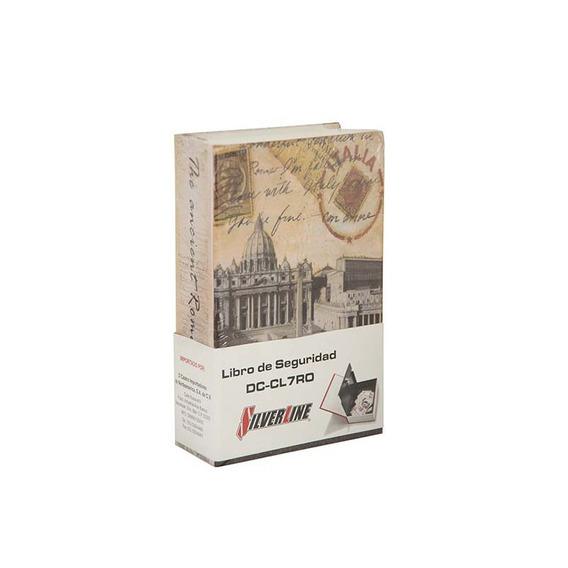 Caja Fuerte Seguridad Libro Roma 7 Pulgadas Silverline