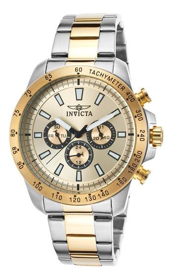 Relogio Invicta Cronografo 20340 Prateado Gold Original