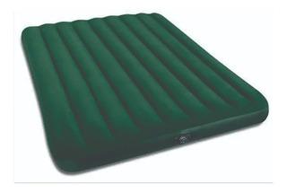 Colchão Inflável Casal Clássico Midnight Verde Escuro Intex