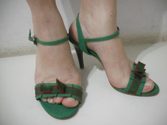 Sandalia Colcci Verde 37 Usado Bom Estado