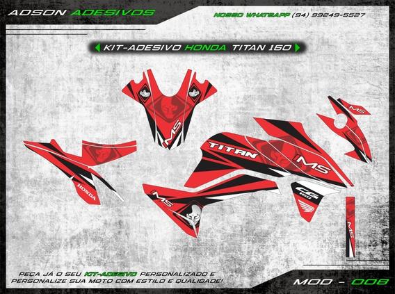 Kit Adesivo Honda Cg Titan 160 Kit Gráfico Ims