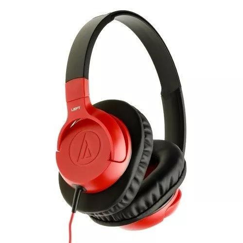 Fone De Ouvido Com Microfone Audiotechnica Overear Vermelho