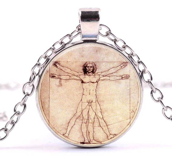 Collar Hombre De Vitruvio Leonardo Dije Arte Pintores Moda
