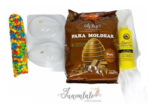 Combo Pascuas Chocolate 1 Kg + 1 Molde + Lentej + Glase + J