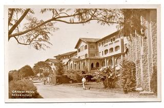 Cartao Postal Grande Hotel Pavani - Serra Negra - Sp Anos 40