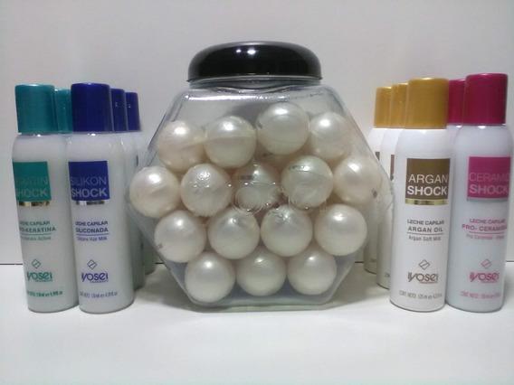 Iyosei Kit Capilar 40 Perlas + 12 Leches Siliconada Surtidas