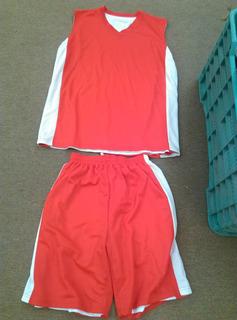 Uniforme De Basquetbol Rojo Doble Vista