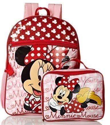 Mochila E Lancheira Minnie Disney (vermelho)