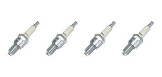 Bujías 3 Electrodos Vocho 1992 - 2004 (4 Pzas) Fuel Injectio