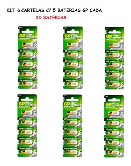 6 Cartelas: 30 Baterias Gp Ultra High Voltage Alcalina 23a