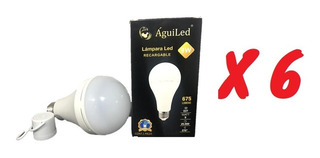 *lote 6 Pz* Foco De Emergencia Recargable Led 9w