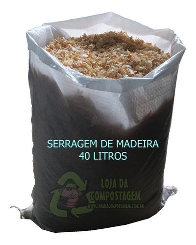 Serragem De Madeira-minhocário/composteira 40lts