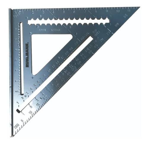medidor de encuadre 7 pulgadas Escuadra de techo de aleaci/ón de aluminio /ángulo de rabia herramienta de medici/ón de encuadre de carpintero tri/ángulo medici/ón gu/ía de /ángulo