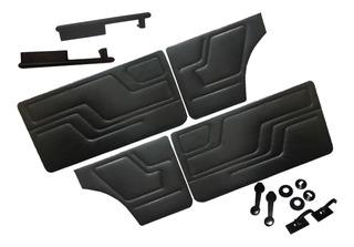Kit Paneles Fiat 147 Tapizados Apoyabrazos Manijas Clips