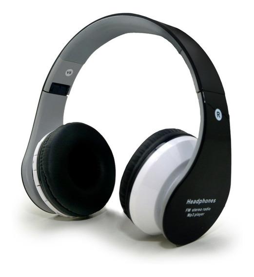 Fone Ouvido Headphone S/ Fio Cartão Sd Bluetooth Fm Sport