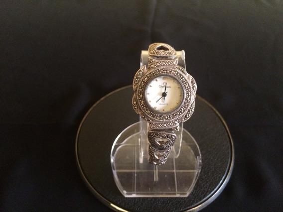Relógio De Pulso Feminino Em Prata 925 E Marcassitas