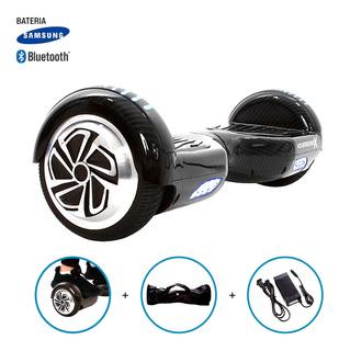 Hoverboard Skate Elétrico Roda 6,5 Estilo Fibra De Carbono