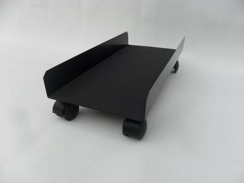 Carrito De Metal Computadora Pc Goma Antideslizante 24x50cm