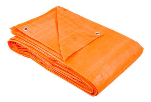 Lona Plástica Impermeável 6x4 Laranja Encerado