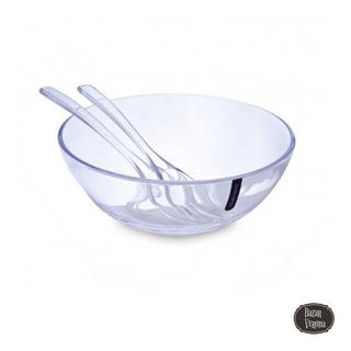 Ensaladera Bowl Redondo De Acrilico Diseño 29 Cm