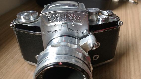 Câmera Exakta Varex Ii Lente Zeiss Jena 50mm 2.8