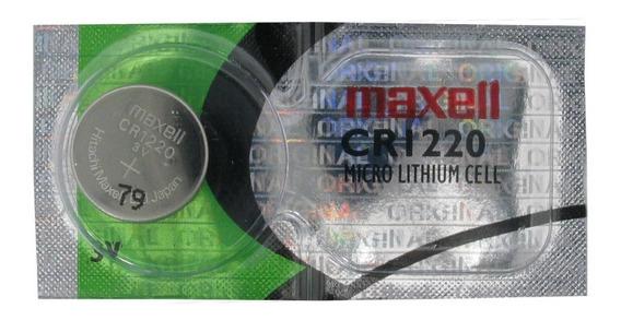 Pilha Bateria Botão De Lítio Cr1220 3v 38mah Maxell