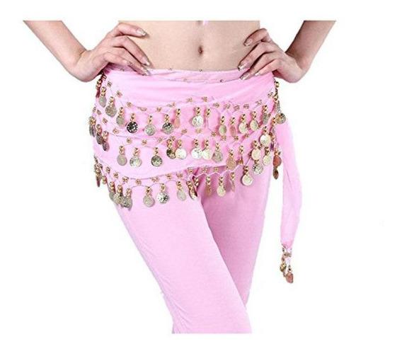 Pink - Danza Del Vientre Falda De Cadera Bufanda Abrigo-6159