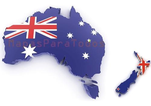 Imagen 1 de 6 de Mapas De Australia Y Nueva Zelanda P/gps Nuvi O Drive