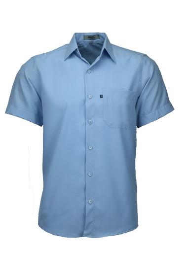 Camisa Microleve Manga Curta - Azul Bebê - Ref 440