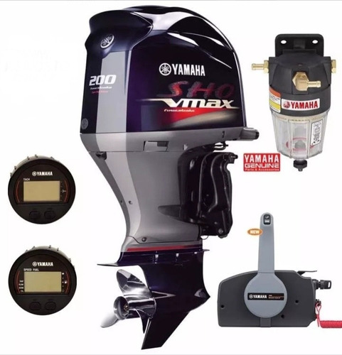 Motores Yamaha 200hp 4t V-max Sho Super High Descuentos Cont