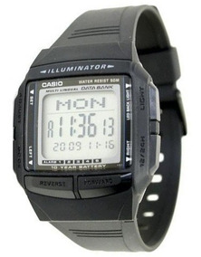 Relógio Casio Db-36 Retro Data Bank 30 Tel 5 Alarme Prata