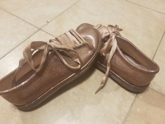 Hermosas Zapatillas De Nena Nro 30. Con Brillos Y Lazo