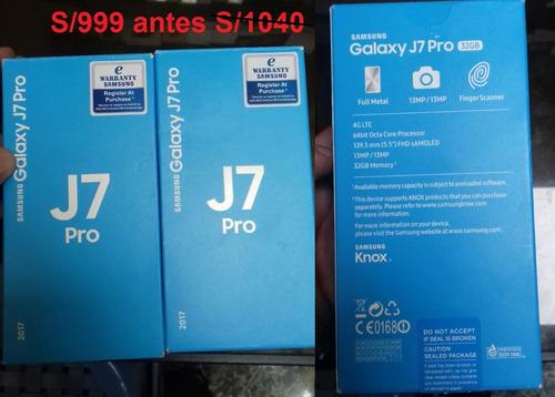 Samsung J7 Pro 32gb, 4g, Dorado Libre En Caja Con Garantia