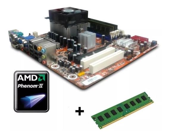 Kit Gamer Placa Mãe Processador Phenom2 3.3ghz 4gb Ddr3hdmi