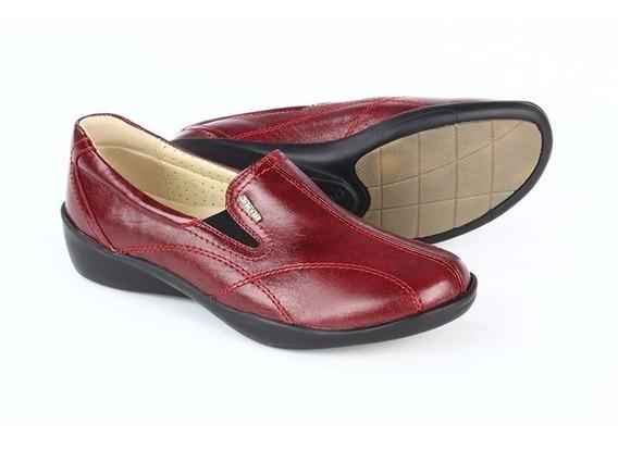 Zapatos Calzado Mocasines Dama 1109 Onena Rojo O Negro Ancho