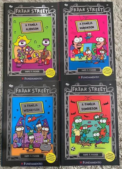 Livros Infantis Freak Street Série Completa (1 Ao 4)