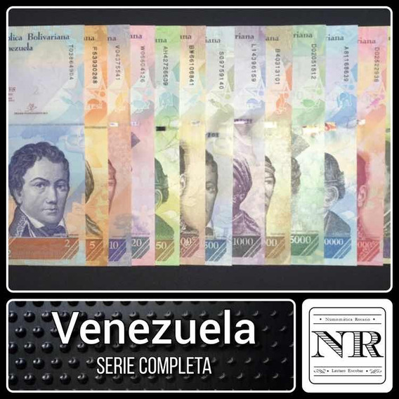 Serie Billetes Venezuela 13 Valores 2 A 100.000 Bolivares