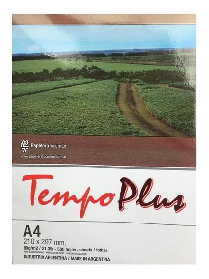 Resma Tempo Plus A4 80 Grs 500 Hojas X Caja 2500 Hojas