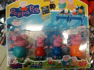 Blister Familia Peppa Pig Pepa Pig George X 4