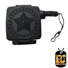Fiel Retratil Estrela Preto - Loja Pj Militar )