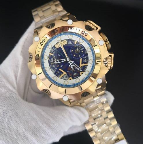 Relógio Masculino Hibrid Esqueleto Dourado