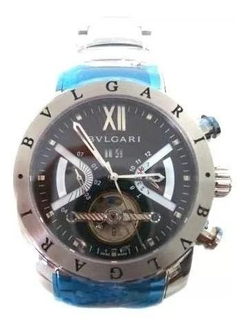 Relógio Bvlgare Iron Man Prata Com Caixa