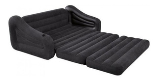 Sofá Cama Inflable Doble Intex Negro