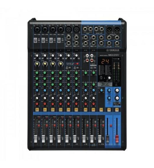 Mesa De Som Analógica 12 Canais Mg12xu Preta Yamaha