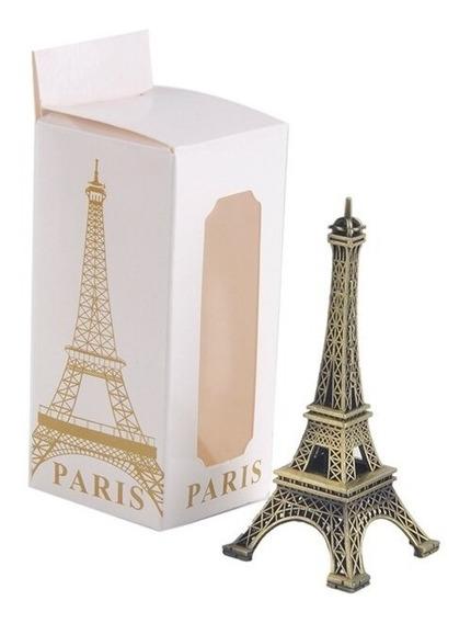 12 Torres Eiffel En Caja Souvenir Original Casamiento Metal
