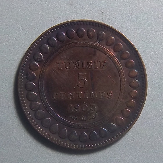 Túnez 5 Centimes 1903 Ex Km 228 Muhammad Iv Colonia Francesa