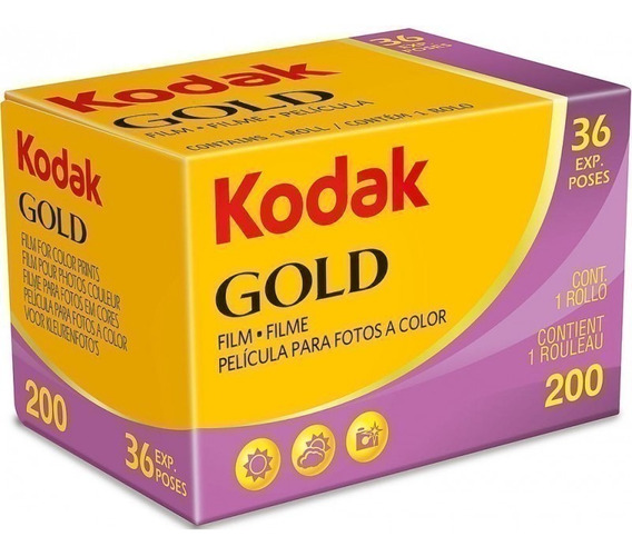 Filme Kodak Gold 200 35mm 36 Exp Vencimento 01/2021