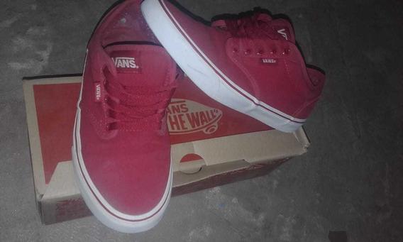 Zapatillas Vans Color Rojo.. Talle 38/39 Orinales.