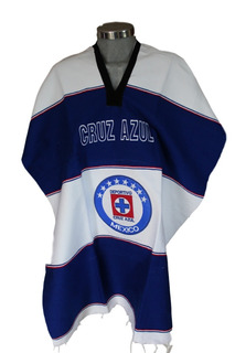 Jorongo Mexicano Artesanal Bordado Cruz Azul