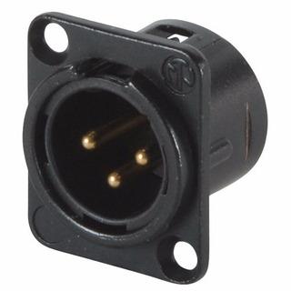 Neutrik Nc3md-l-b-1 Conector Ficha Xlr Canon Macho Chasis